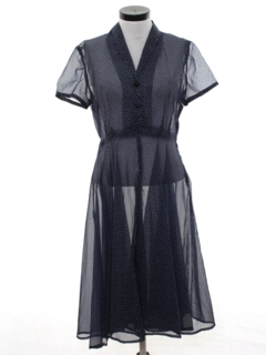1940's Womens Sheer Swing Style Dress
