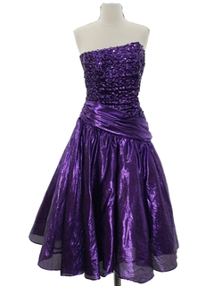 1980's Womens Totally 80s Prom Or Cocktail Dress