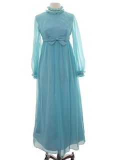 1960's Womens Lorrie Deb Designer Maxi Prom Or Cocktail Dress
