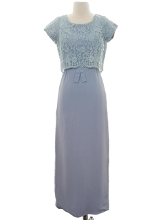 1950's Womens Maxi Prom Or Cocktail Dress