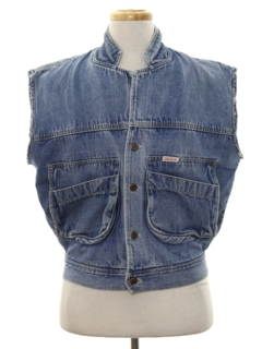 1980's Mens Totally 80s Denim Vest