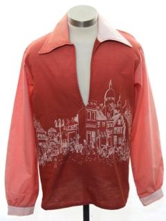 1960's Mens Rare Mod Print Sport Shirt