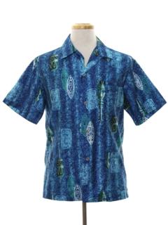 1960's Mens Mod Hawaiian Shirt