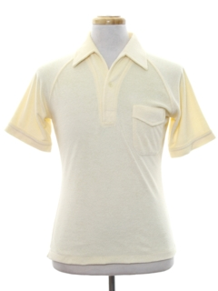 1970's Mens Terry Cloth Knit Shirt
