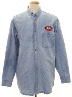 1980's Mens Denim 49ers Shirt