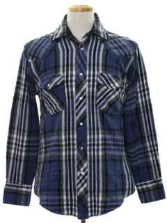 1980's Mens Plaid CPO Style Shirt Jacket