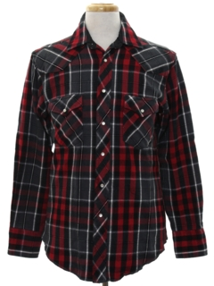 1990's Mens Plaid Flannel CPO Style Shirt Jacket