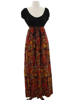 1970's Womens Hippie Maxi Dress