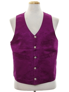 1980's Mens Totally 80s Tuxedo Style Suit Vest