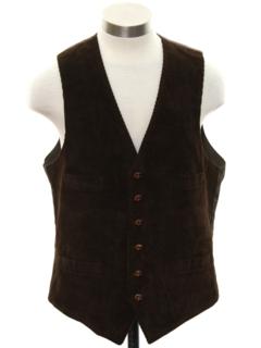 1980's Mens Corduroy Suit Vest
