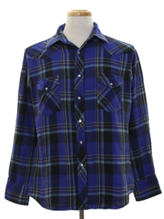 1990's Mens Grunge Style Flannel Western Shirt