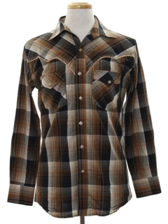 1970's Mens Rodeo Style Western Shirt