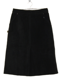 1980's Womens Totally 80s Suede Leather Skirt