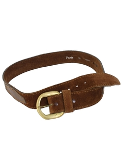 1980's Mens Accessories - Western Suede Leather Belt