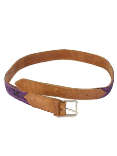 1980's Unisex Accessories - Hippie Leather Belt
