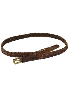 1980's Mens Accessories - Preppy Leather Belt