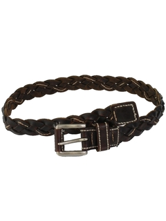 1990's Mens Accessories - Woven Leather Belt