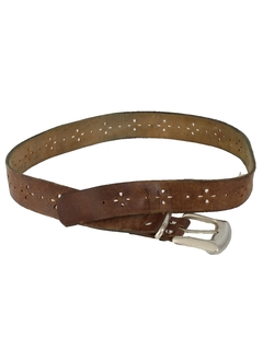 1970's Womens Accessories - Leather Hippie Belt