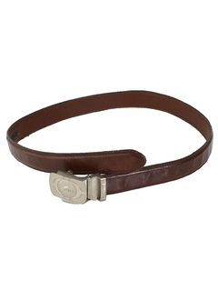 1990's Mens Accessories - Preppy Faux Leather Belt