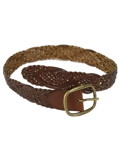 1990's Womens Accessories - Woven Leather Belt