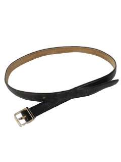 1980's Mens Accessories - Totally 80s Skinny Leather Belt