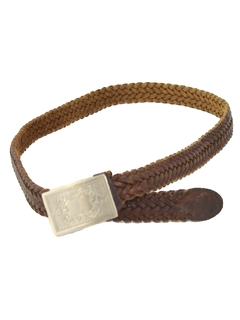 1980's Womens Accessories - Woven Leather Western Belt