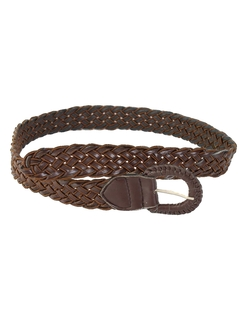 1980's Womens Accessories - Woven Leather Belt