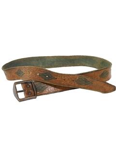 1970's Mens Accessories - Leather Hippie Belt