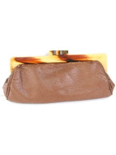 1960's Womens Accessories - Mod Leather Clutch Purse