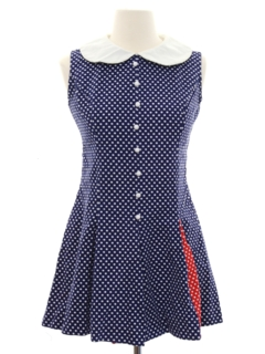 1960's Womens Mod Twiggy Style Mini Dress