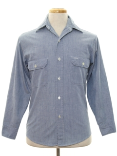 1960's Mens Chambray Work Shirt