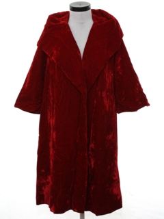 1950's Womens Velvet Cocktail Opera Coat Jacket
