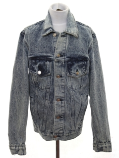 1980's Womens Totally 80s Style Acid Washed Denim Jacket