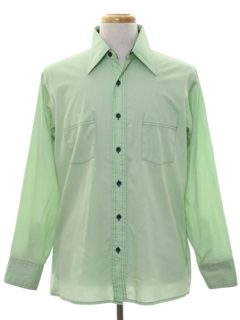 1970's Mens Solid Sport Shirt