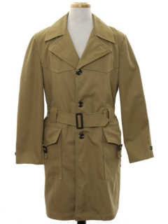 1970's Mens Overcoat Trench Coat Jacket