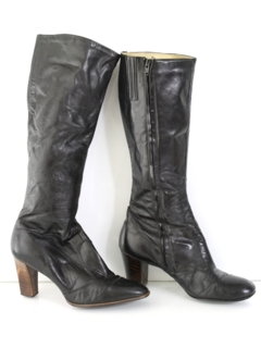 1970's Womens Accessories - Leather Boots