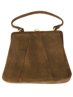 1960's Womens Accessories - Suede Leather Purse