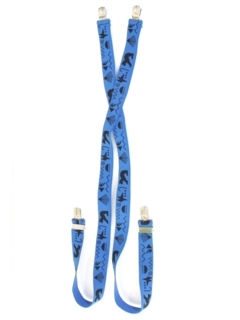 1980's Unisex Accessories - Totally 80s Suspenders