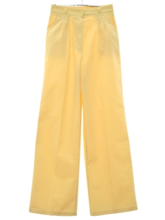 1980's Womens Totally 80s Wide Leg Pleated Preppy Pants