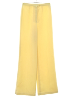 1980's Womens Wide Leg Flat Front Pants