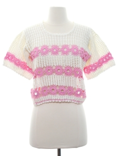 1970's Womens Mod Crochet Sweater