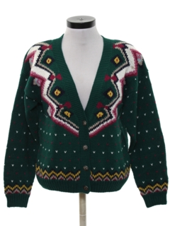 1980's Womens Totally 80s Style Cardigan Sweater