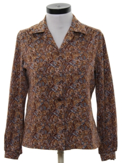 1970's Womens Hippie Style Paisley Shirt