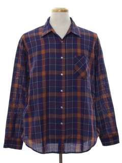 1960's Mens Plaid Shirt