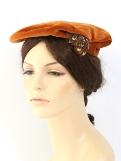 1960's Womens Accessories - Velvet Hat