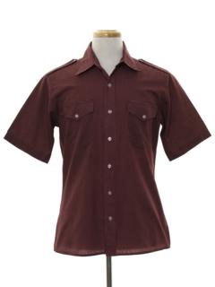 1980's Mens Designer Safari Style Sport Shirt