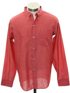 1960's Mens Mod Preppy Shirt
