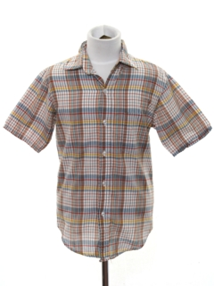 1980's Mens/Boys Plaid Shirt