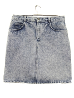 1980's Womens Acid Washed Denim Skirt