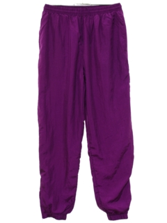 1980's Womens Totally 80s Style Baggy Track Pants